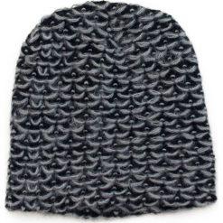 Czapka damska beanie w melanżach szara. Szare czapki zimowe damskie Art of Polo. Za 36,52 zł.