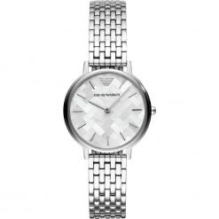 Zegarek EMPORIO ARMANI - Kappa AR11112 2-Tone/Rose Gold/Silver. Szare zegarki damskie marki Emporio Armani, l, z nadrukiem, z bawełny, z okrągłym kołnierzem. Za 979,00 zł.