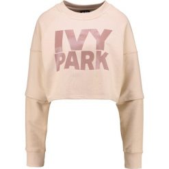 Bluzy rozpinane damskie: Ivy Park WASHED LOGO CROPPED  Bluza dusty pink