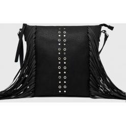Medicine - Torebka Hand Made. Czarne torebki klasyczne damskie marki MEDICINE, w paski, z materiału, średnie. Za 129,90 zł.