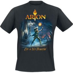 Arion Life is not beautiful T-Shirt czarny. Czarne t-shirty męskie Arion, xxl. Za 54,90 zł.