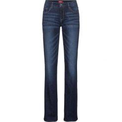 Dżinsy ze stretchem BOOTCUT bonprix ciemnoniebieski. Zielone jeansy damskie bootcut marki bonprix, w kropki, z kopertowym dekoltem, kopertowe. Za 89,99 zł.