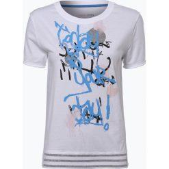 Marc Cain Sports - T-shirt damski, czarny. Czarne t-shirty damskie Marc Cain Sports, z aplikacjami, z bawełny. Za 299,95 zł.