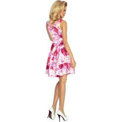 Sukienki hiszpanki: Sukienka rozkloszowana w kwiaty nm-125-16