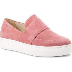 Półbuty VAGABOND - Camille 4346-240-58 Rose Pink. Czerwone creepersy damskie Vagabond, ze skóry, na płaskiej podeszwie. W wyprzedaży za 299,00 zł.