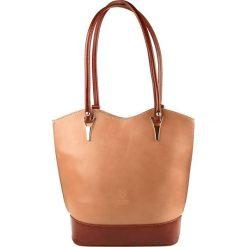 Torebki klasyczne damskie: Skórzana torebka w kolorze szarobrązowym – 28 x 23 x 10 cm