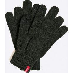 Levi's - Rękawiczki. Brązowe rękawiczki męskie Levi's®, z bawełny. W wyprzedaży za 49,90 zł.