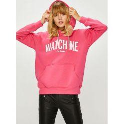 Answear - Bluza Watch me. Szare bluzy z kapturem damskie marki ANSWEAR, l, z nadrukiem, z bawełny. W wyprzedaży za 114,90 zł.