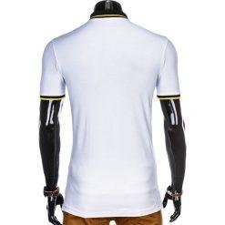 KOSZULKA MĘSKA POLO Z NADRUKIEM S909 - BIAŁA. Białe koszulki polo marki Ombre Clothing, m, z nadrukiem. Za 59,00 zł.