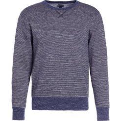Swetry klasyczne męskie: J.CREW TEXTURED CREWNECK IN STRIPE Sweter heather navy