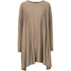 Swetry damskie: Długi sweter bonprix wielbłądzia wełna melanż