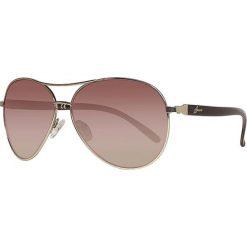 """Okulary przeciwsłoneczne damskie aviatory: Okulary przeciwsłoneczne """"GUF 235 GLD 34A"""" w kolorze brązowym"""