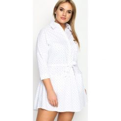 Sukienki hiszpanki: Biała Sukienka Microcosm