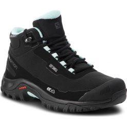 Trekkingi SALOMON - Shelter Cs Wp W 404731  21 V0 Black/Black/Eggshell Blue. Czarne buty trekkingowe damskie marki Salomon, z gore-texu, na sznurówki, outdoorowe, gore-tex. W wyprzedaży za 399,00 zł.
