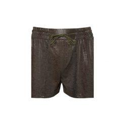Krótkie spodenki KHAKI. Niebieskie szorty damskie marki Nike, z materiału, eleganckie. Za 150,00 zł.