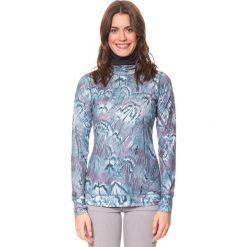 Topy sportowe damskie: Koszulka funkcyjna w kolorze niebieskim
