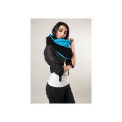 Zimowy komin damski, czarno-niebieski dresowy komin. Szare szaliki damskie marki B'TWIN, na zimę, z elastanu. Za 99,00 zł.