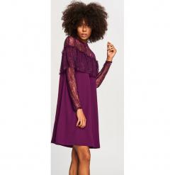 Sukienka z koronką - Fioletowy. Białe sukienki koronkowe marki Reserved, l. W wyprzedaży za 59,99 zł.