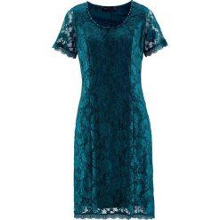 Sukienki hiszpanki: Sukienka koronkowa bonprix niebieskozielony