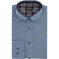 Koszula bexley 2328 długi rękaw slim fit niebieski. Niebieskie koszule męskie na spinki Recman, m, z długim rękawem. Za 89,99 zł.