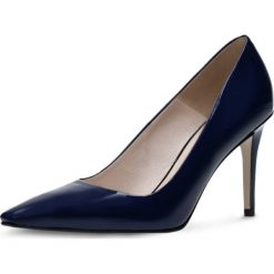 Czółenka FIORITA. Niebieskie buty ślubne damskie Gino Rossi, z lakierowanej skóry, na obcasie. Za 199,90 zł.