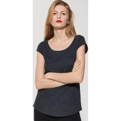 T-shirty męskie: Gładki t-shirt – Czarny