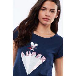 Etam - Top piżamowy Sixtine. Niebieskie piżamy damskie marki Etam, l, z bawełny. Za 69,90 zł.
