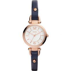 Zegarek FOSSIL - Georgia Small ES4026  Blue/Rose Gold. Różowe zegarki damskie marki Fossil, szklane. Za 509,00 zł.