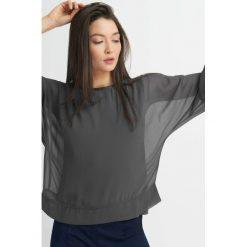 Odzież damska: Szyfonowa bluzka nietoperz