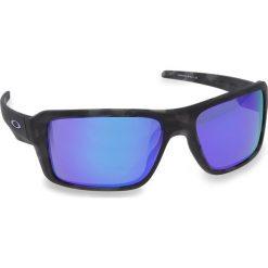 Okulary przeciwsłoneczne OAKLEY - Double Edge OO9380-0466 Black Tortoise/Violet Iridium. Czarne okulary przeciwsłoneczne męskie aviatory Oakley, z tworzywa sztucznego. W wyprzedaży za 479,00 zł.