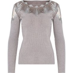 Swetry damskie: Khaki Sweter Do Not Wait