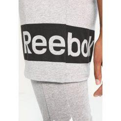 Reebok WOR Tshirt z nadrukiem medium grey heather. Szare topy sportowe damskie marki Reebok, l, z nadrukiem, z bawełny. W wyprzedaży za 143,10 zł.
