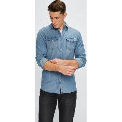 Jack & Jones - Koszula. Niebieskie koszule męskie jeansowe Jack & Jones, l, z klasycznym kołnierzykiem, z długim rękawem. W wyprzedaży za 139,90 zł.