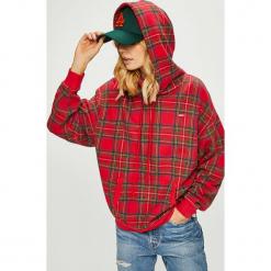 Levi's - Bluza. Brązowe bluzy rozpinane damskie Levi's®, l, z bawełny, z kapturem. Za 259,90 zł.