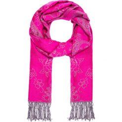 Apaszki damskie: Różowa apaszka z szarym wzorem QUIOSQUE