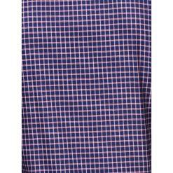 KOSZULA MĘSKA W KRATĘ Z DŁUGIM RĘKAWEM K423 - GRANATOWA/CZERWONA. Brązowe koszule męskie na spinki marki Ombre Clothing, m, z aplikacjami, z kontrastowym kołnierzykiem, z długim rękawem. Za 69,00 zł.