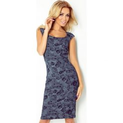 Sukienki: Joanna Dopasowana sukienka – GRANATOWE RÓŻE