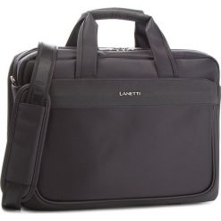 Torba na laptopa LANETTI - RM0702 Black. Czarne torby na laptopa marki Lanetti, z materiału. Za 149,99 zł.