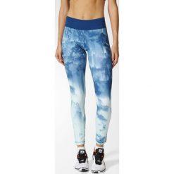 Spodnie damskie: Adidas Legginsy WOW Tight Drop 3 niebieskie r. XS (S94448)