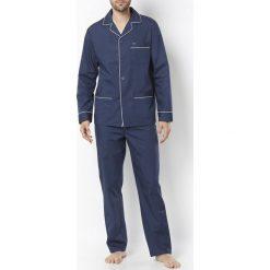 Piżamy męskie: Piżama z kołnierzem szalowym, czysta bawełna
