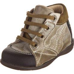 """Buciki niemowlęce chłopięce: Skórzane buty """"Tetard Lim"""" w kolorze szaro-oliwkowym do nauki chodzenia"""