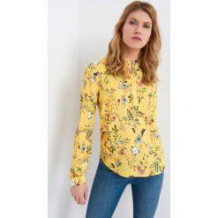 Bluzki damskie: Bluzka koszulowa w kwiaty