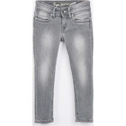 Pepe Jeans - Jeansy dziecięce Pau 92-180 cm. Szare jeansy dziewczęce Pepe Jeans, z bawełny. W wyprzedaży za 159,90 zł.