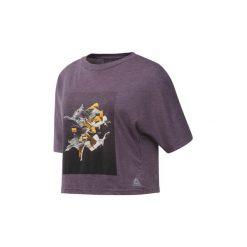 T-shirty z krótkim rękawem Reebok Sport  Koszulka Dance. Fioletowe bluzki sportowe damskie Reebok Sport, l, z krótkim rękawem. Za 149,00 zł.