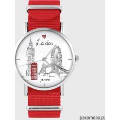 Zegarek - Londyn - czerwony, nato. Czerwone zegarki damskie Pakamera. Za 129,00 zł.