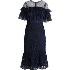 Forever Unique Sukienka koktajlowa navy. Niebieskie sukienki koktajlowe Forever Unique, z materiału. Za 419,00 zł.