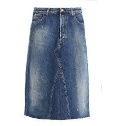 Replay SKIRT Spódnica jeansowa blue denim. Niebieskie spódniczki jeansowe Replay. W wyprzedaży za 439,00 zł.