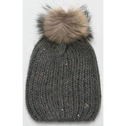 Liu Jo - Czapka zimowa. Szare czapki zimowe damskie Liu Jo, na zimę, z dzianiny. Za 199,90 zł.
