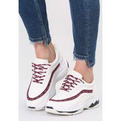 Białe Sneakersy Give Yourself A Try. Szare sneakersy damskie marki other, z materiału. Za 89,99 zł.