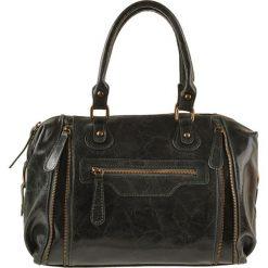 Torebki klasyczne damskie: Skórzana torebka w kolorze ciemnozielonym – 36 x 27 x 11 cm